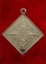 .Rian Phrom KhaoLamDtat (Rhombus shape Four Face Buddha medal) created by Acharn Heng Phrai Wan<font color=red>(SOLD)