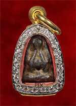 Phra Pidta Phim Sangkati Two Sided mould with Takrut LuangPu Iam Wat Nang (Bangkok)<font color=red>(SOLD)