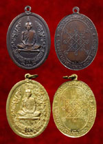 First batch medal of LuangPu Toh of Wat Pradoochimpee (Bangkok) 2510 <font color=black>( SOLD)